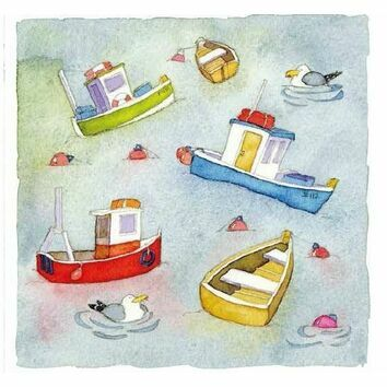 Emma Ball 'Boats Afloat' Coaster