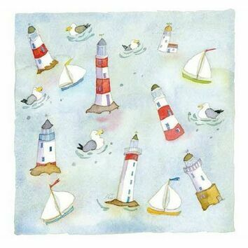 Emma Ball \'Lighthouses Afloat\' Coaster