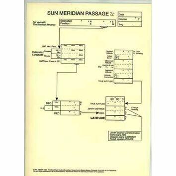 Laminated Sight Reduction Forms - Sun Meridin Passage
