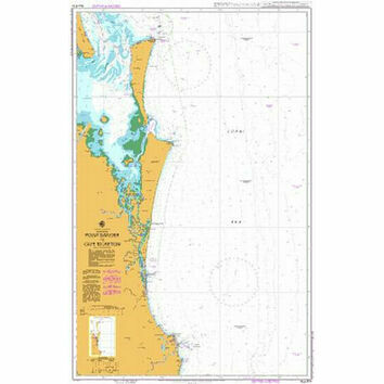 AUS814 Point Danger to Cape Moreton Admiralty Chart