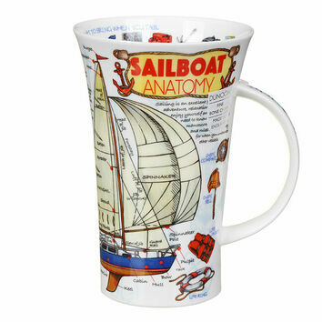 Dunoon Sailboat Anatomy Glencoe Shaped Mug