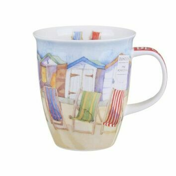 Dunoon By The Coast Deckchairs Nevis Shaped Mug