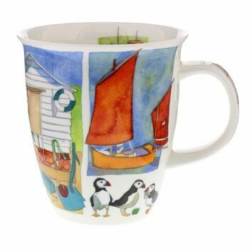 Dunoon Sea Breeze Puffins Nevis Shaped Mug
