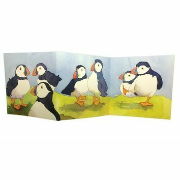 Emma Ball \'Puffin\'s Day Trip\' Two-Fold Card