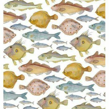 Emma Ball Fishes Tea Towel