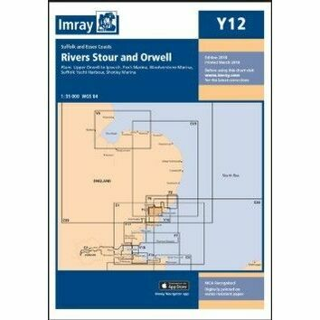 Imray Chart Y12: Rivers Stour and Orwell