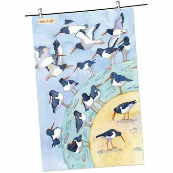 Emma Ball \'Oystercatcher\' Tea Towel