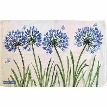 Emma Ball 'Agapanthus' Tea Towel