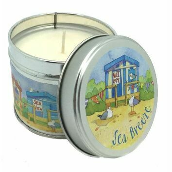 Emma Ball \'Beach Huts\' Sea Breeze Scented Candle Tin