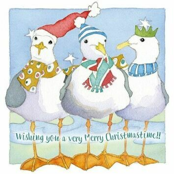 Emma Ball \'Festive Gulls\' Christmas Cards (Pack of 6)