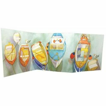 Emma Ball 2 Fold Card - Moored and Ready