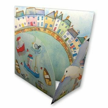 Emma Ball Coastal Die Cut Cards - Harbour Boats