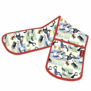 Emma Ball Puffin Double Oven Gloves