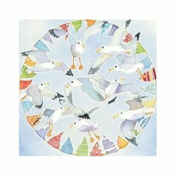 Emma Ball Seagull & Bunting Fridge Magnet