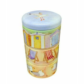Emma Ball Stacking Tins Beach Huts