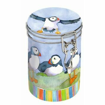 Emma Ball Puffin Clip Lid Caddy Tin