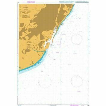 1196 Spain East Coast, Approaches to Barcelona Admiralty Chart