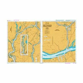 133 Nieuwe Maas- Oude Maas- Noord and Dordtsche Kil - Rotterdam to Moerdijk Admiralty Chart