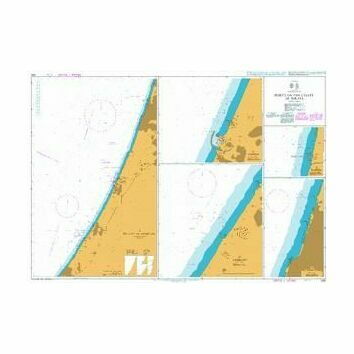 1591 Ports on the Coast of Israel Admiralty Chart
