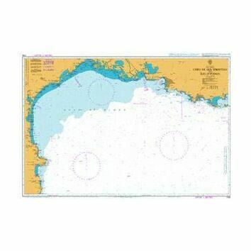 1705 Cabo de Sebastian to Iles d'Hyeres Admiralty Chart