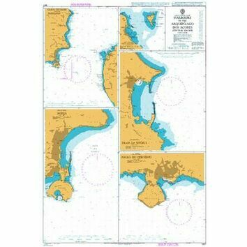 1957 Harbours in the Arquipelago Dos Acores (Central Group) Admiralty Chart