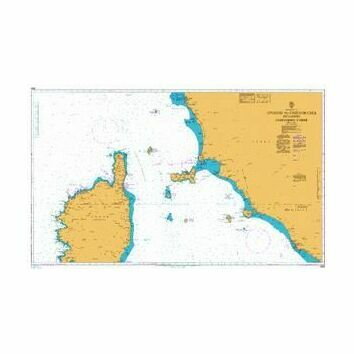 1999 Livorno to Civitavecchia inc. Northern Corse Admiralty Chart
