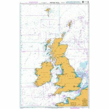 2 British Isles Standard Admiralty Nautical Chart