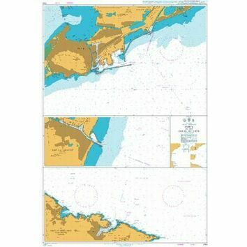 2114 Ports in the Golfe du Lion Admiralty Chart
