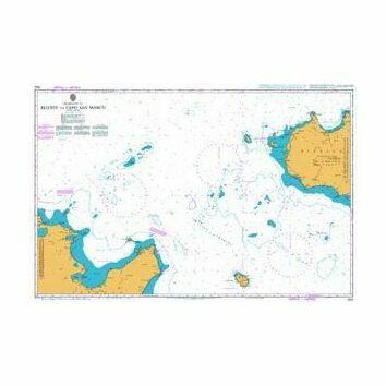 2122 Bizerte to Capo San Marco Admiralty Chart