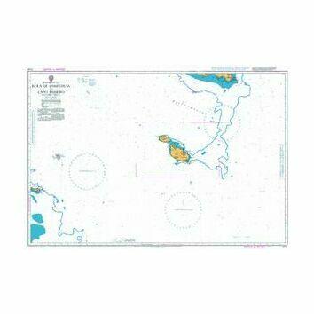 2124 Isola di Lampedusa to Capo Passero Including Malta Admiralty Chart