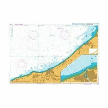 2148 Approaches to Fercamp and Dieppe Admiralty Chart