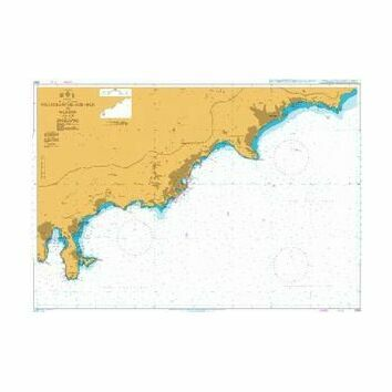 2245 Villefranche - Sur - Mer to Menton Admiralty Chart