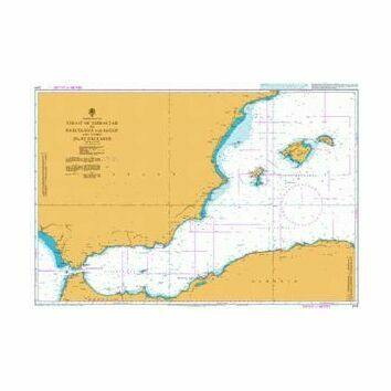 2717 Strait of Gibraltar to Barcelona and Alger Admiralty Chart