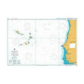 3135 Nouakchott to Bissau and Arquipelago De Cabo Verde Admiralty Chart