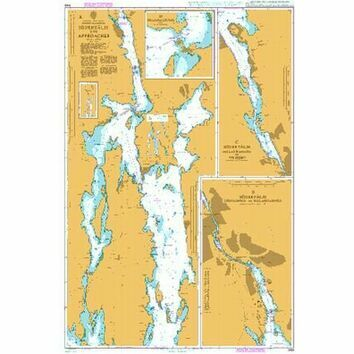 845 Sweden, East Coast Stockholms Skargart, Soderalje and Approaches Admiralty Chart