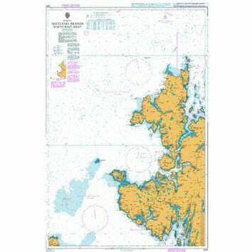 3281 Shetland Islands North West Sheet Admiralty Chart