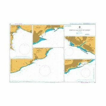 351 Ports in the Gulf of Genoa Admiralty Chart