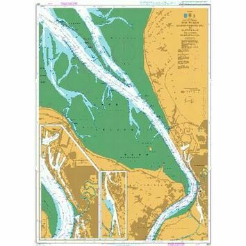 3621 The Weser,Robbennordsteert to Nordenham icl.Bremerhaven Admiralty Chart