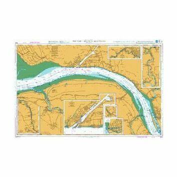 3625 The Elbe, Belum to Krautsand Admiralty Chart