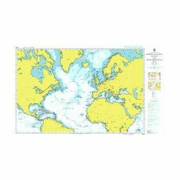 4004 North Atlantic Ocean Admiralty Chart