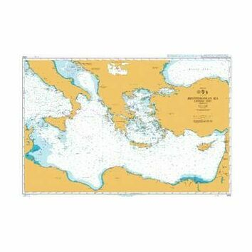 4302 Mediterranean Sea - Eastern Part Admiralty Chart