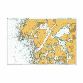 869 Hunnebostrand to Uddevalla and Gullholmen Admiralty Chart