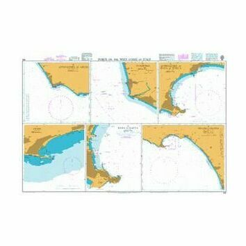 906 Ports on the West Coast of Italy Admiralty Chart