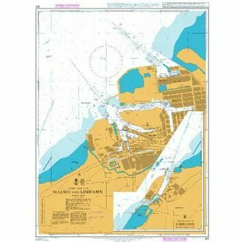 911 Malmo and Limhamn Admiralty Chart