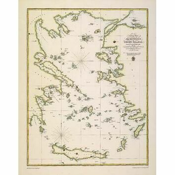 Chart of the Archipelago or Greek Islands ARC 5460 Admiralty Collection Archive Chart