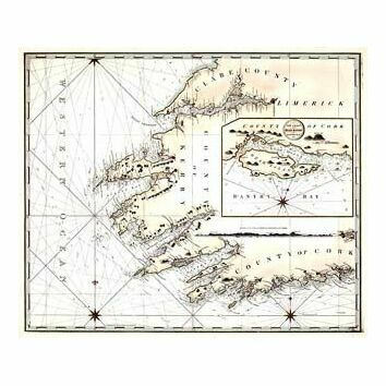 Cork to River Shannon ARC 5504 Admiralty Chart