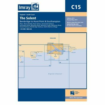 Imray Nautical Chart C15 The Solent