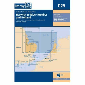 Imray Chart C25: Harwich to River Humber & Holland