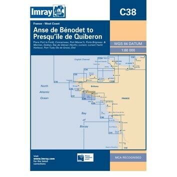 Imray Chart C38: Anse de Benodet to Presqu'ile de Quiberon