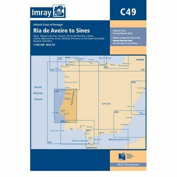 Imray Chart C49 Ria de Aveiro to Sines